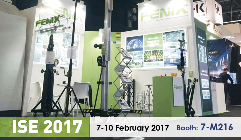 ISE 2017: Trusses, lifting towers and stage platforms at our booth